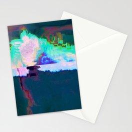 18-23-46 (Skyline Cloud Glitch) Stationery Cards