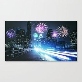 fireworks in texas at austin Canvas Print