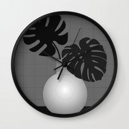 Lola Pot #1 Black Wall Clock