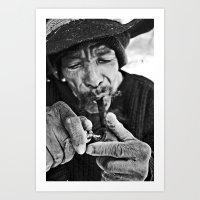 captain silva Art Prints featuring Silva by Lucas Zappa