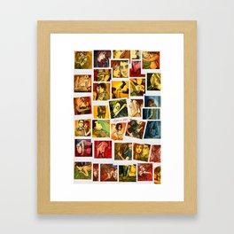 Love is A Bitch Polaroid Set Framed Art Print