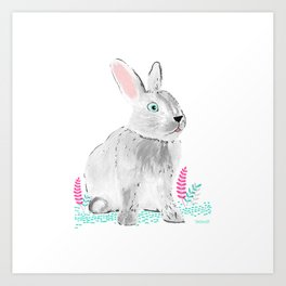 Cute little rabbit Art Print