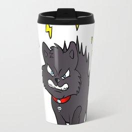 cartoon scared black cat Travel Mug