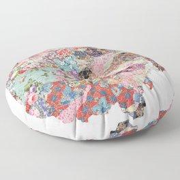 Ohio map Floor Pillow