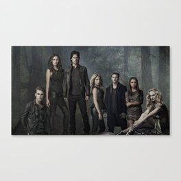 The Vampire Diaries Cast Canvas Print