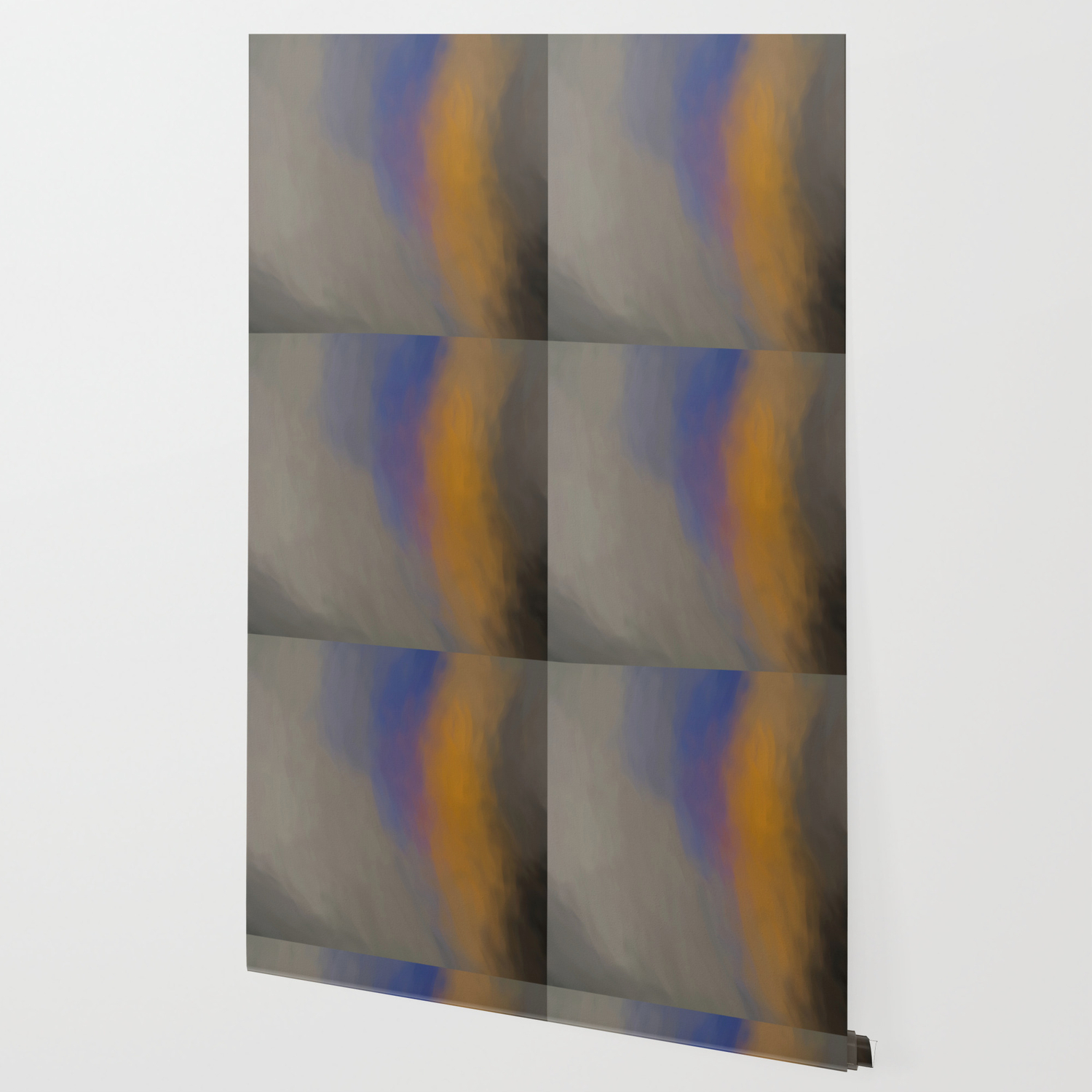 Abstract Touch Of Colors Like Painted On Canvas Wallpaper