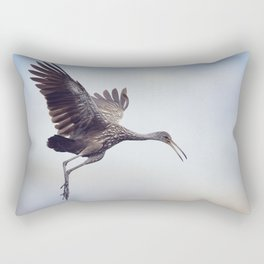 Limpkin Bird in Flight against the sky Rectangular Pillow
