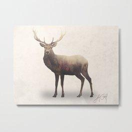 Deer (Double Exposure Animal Portraits) Metal Print
