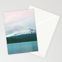 Mountain Lake - Nature Photography - Turquoise Teal Pink Stationery Cards