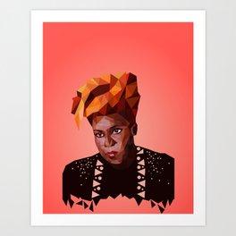 Queen of disco Art Print