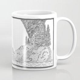 Fire on Foot Island Coffee Mug