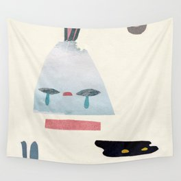 volacno and moon Wall Tapestry