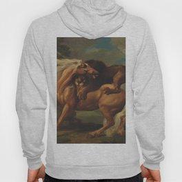 Classical Masterpiece, Circa 1762, Lion Attacking Horse by George Stubbs Hoody