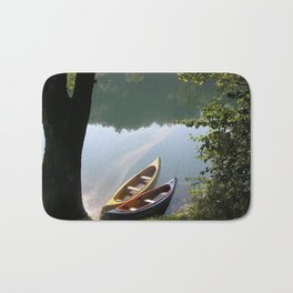 boats on the river Bath Mat