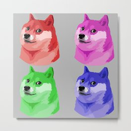 Doge in every color Metal Print