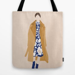 Floral Dress Tote Bag