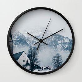 Christmas Winter Church (Color) Wall Clock
