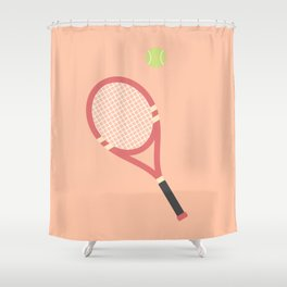 #19 Tennis Shower Curtain