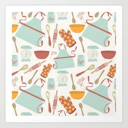 Vintage Kitchen Art Print