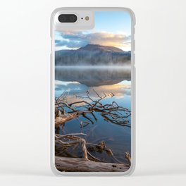Misty Mountain Morning Reflection Clear iPhone Case
