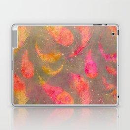 Feather pink and orange Laptop & iPad Skin