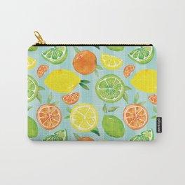 Zesty Citrus Pattern Carry-All Pouch