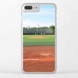 Play Ball! - Home Plate Clear iPhone Case