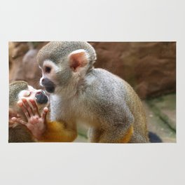 Monkey Love and Attitude  Rug