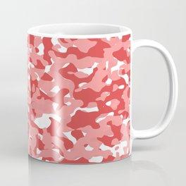 Red Camouflage Camo Pattern Coffee Mug