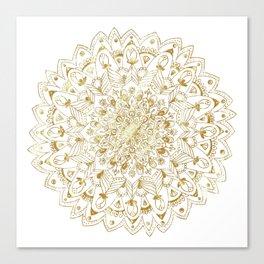 Mandala gold Canvas Print