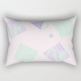 Geometric objects in pastels Rectangular Pillow