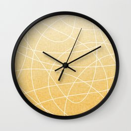 Scribble Linen - Sunflower Yellow Wall Clock