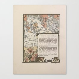 Alphonse Mucha - Illustration for Ilsée, Princess of Tripoli, 1 (1901) Canvas Print