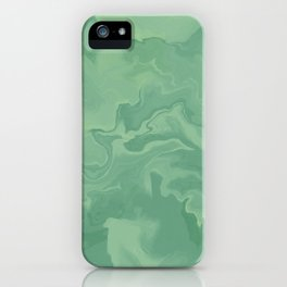 Smoky - Neon mint abstract pattern  iPhone Case