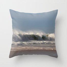 Strong Shorebreak Throw Pillow
