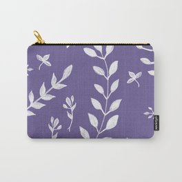 Ultra Violet Leaves Pattern #2 #drawing #decor #art #society6 Carry-All Pouch