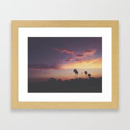 California Sunsets Framed Art Print
