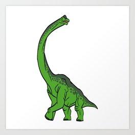 "Nice Dinosaur Tee For Animal Lovers ""Brachiosaurus Diplodocus"" T-shirt Design Jurassic Park Reptiles Art Print"