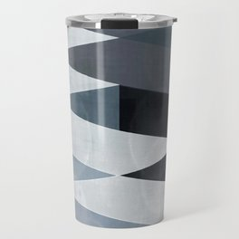 blue abstract, abstract art, office art, contemporary art, geometric print, modern painting, mid cen Travel Mug