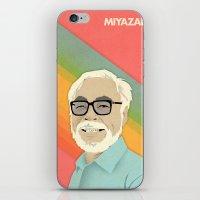 hayao miyazaki iPhone & iPod Skins featuring Miyazaki by Virtual Window