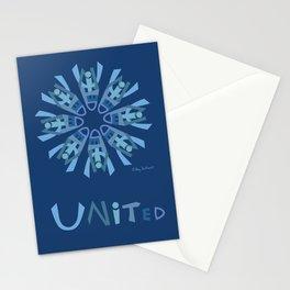 United Mandala with UNITED (s) - Blue Stationery Cards