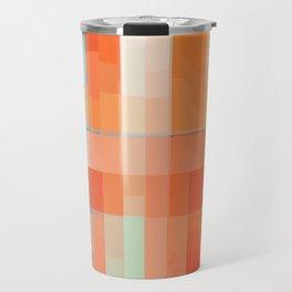 Orange Turquoise Summer Abstract Design Travel Mug