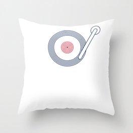 British Roundel Vinyl Record Player Turntable MOD 60s Britain Throw Pillow