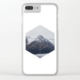 Snow Mountain - Geometric Photography Clear iPhone Case
