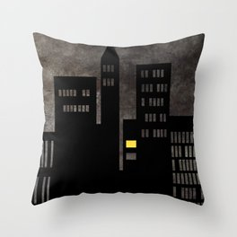 City Skyline Light Throw Pillow