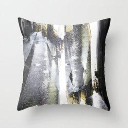 so look behind kindly yet forward no absurd enzyme Throw Pillow
