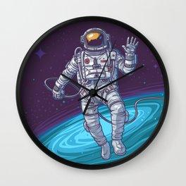Vector illustration cosmonaut Wall Clock