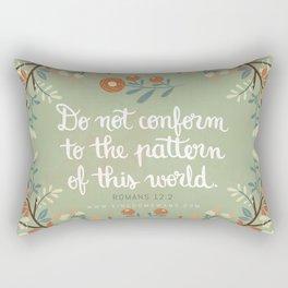 Romans 12:2 Do Not Conform Rectangular Pillow