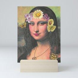 Hippie Gioconda Mini Art Print