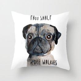 Demanding Doggie Throw Pillow